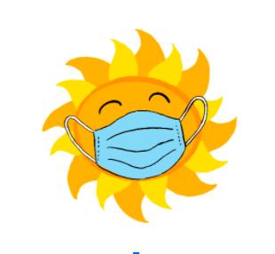 sun wearing a mask